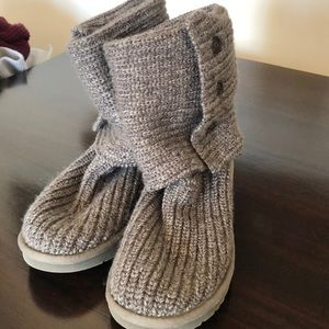 Authentic gray sweater knit UGG boots size 9